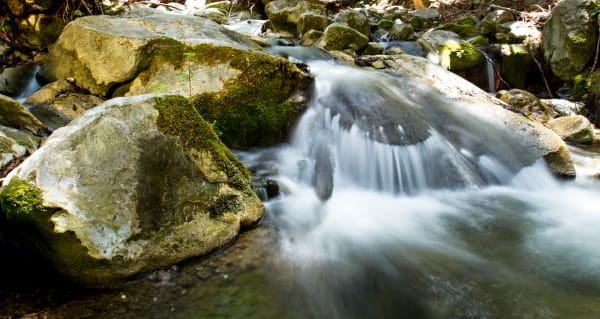 Waterfall Off Rocks In Hare Creek Photograph for Sale as Fine Art
