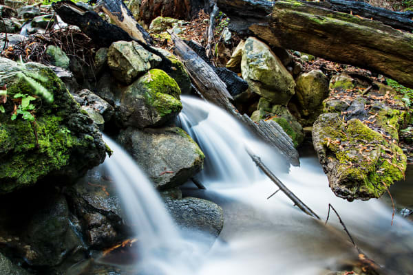 Waterfalls in Hare Creek in Big Sur Photograph for Sale as Fine Art