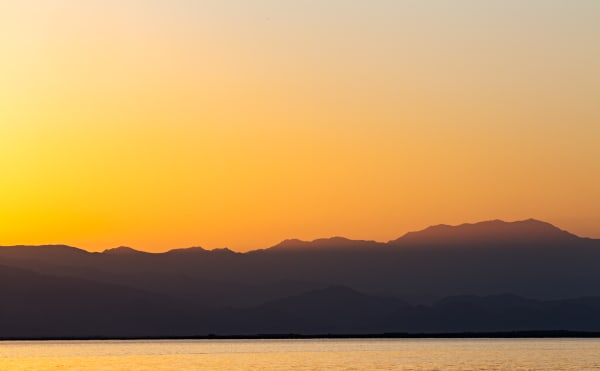 Colorful Sunset Over Salton Sea From Mecca Beach Photograph for Sale as Fine Art