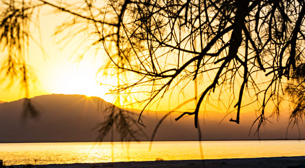 Salton Sea At Sunset From Mecca Beach Campground Photograph For Sale As Fine Art