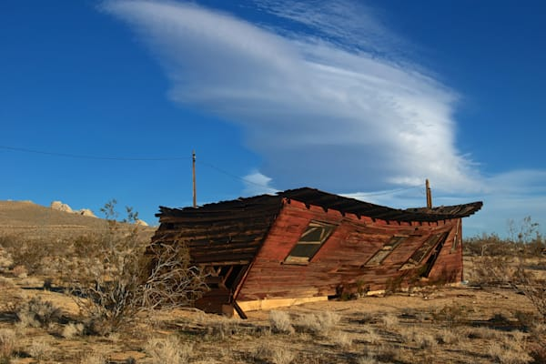 Abandoned and Weathered Rustic Shack on Hwy 395.
