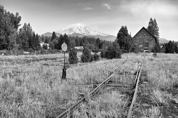 Dramatic Photo of Mount Shasta from McCloud Print for Sale.
