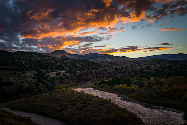 Autumn, Chama River, Landscape, New Mexico, Photography, Southwest, Sunset