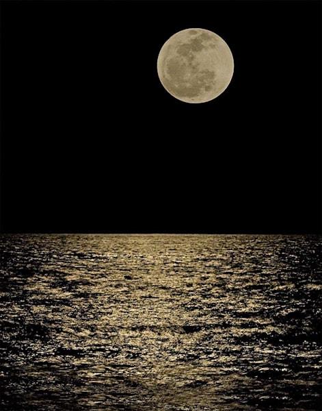 Moon Reflection on Ocean | Kauai Fine Art Photography, Hawaii