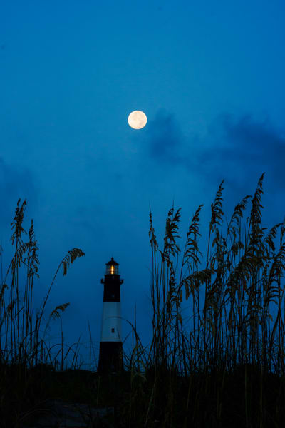 Blue Moon Over Tybee Light