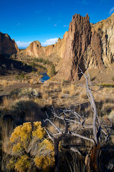 Smith Rock State Park in the mid morning.