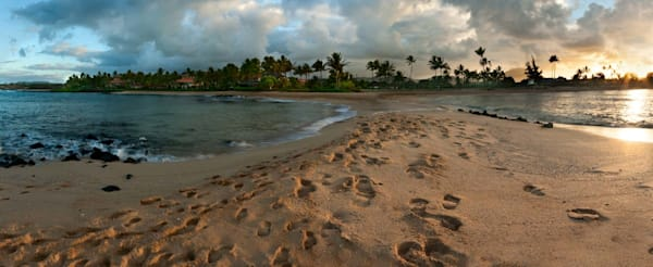 Poipu Beach Tombolo | Kauai Fine Art Photography, Hawaii