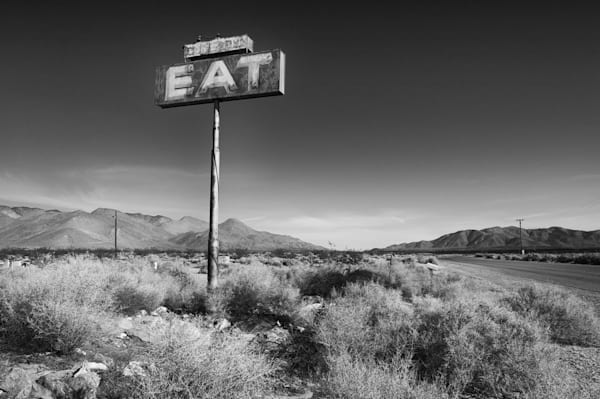Awesome Nostalgic Black & White Restaurant Sign, Prints.