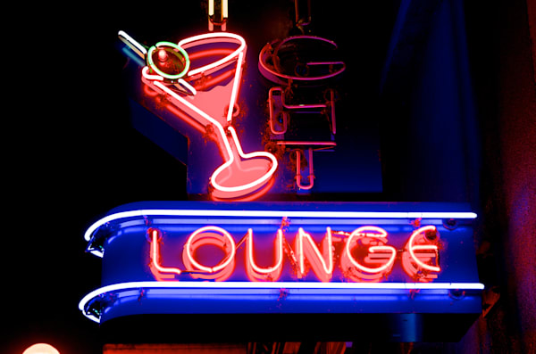 Lounge sign in Eugene, Oregon.