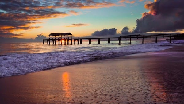 Sunset at Waimea Pier | Kauai Fine Art Photography, Hawaii