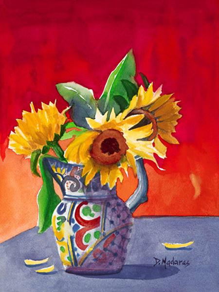 Sunflowers in Talavera | Southwest Art Gallery Tucson