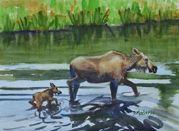 Moose Crossing | Southwest Art Gallery Tucson | Madaras