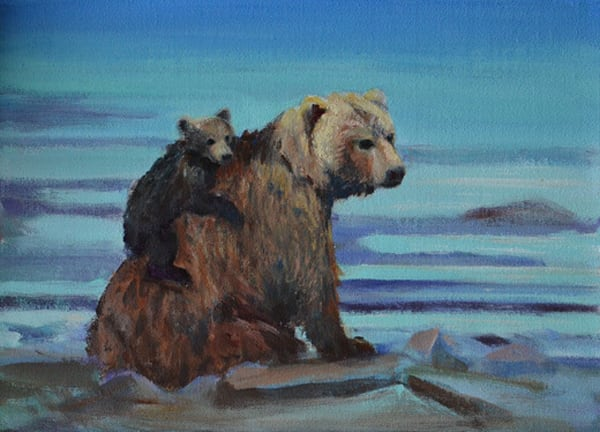 Mom & Baby Bear | Southwest Art Gallery Tucson | Madaras