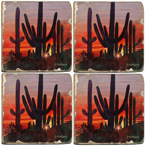 Sunset at Dove Mountain Coaster Set of 4
