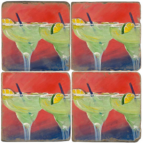 Margarita at Sunset Tumbled Coaster Set of 4