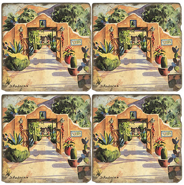 Hacienda Gate II | Tucson Coaster Set