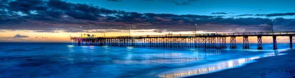 Just after sunset in newport beach looking at the balboa pier.