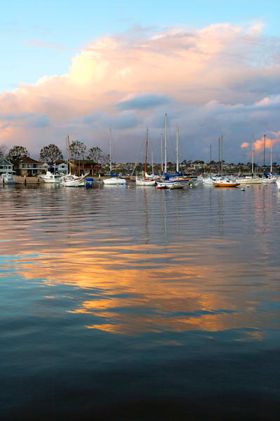 photo from 2004 of sailboats in newport back, taken from the balboa peninsula.
