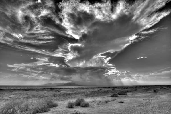 Amazing Clouds and Sky Print of the Salton Sea