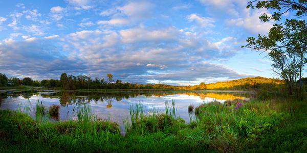 Sunset - Bowmaker Pond - Sharon Springs, New York
