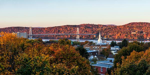 Fall Sunrise - Mid-Hudson Bridge - Poughkeepsie - New York