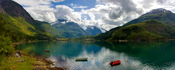 Strynevatnet Lake and Boats - Norway