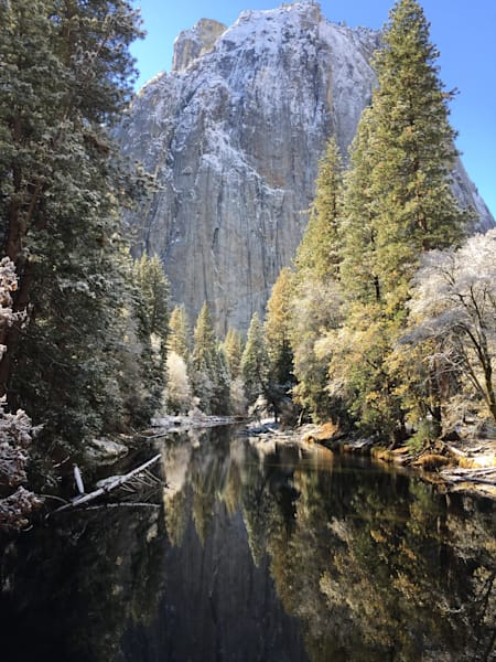 Mountains ,pines,ponds,El Capitan