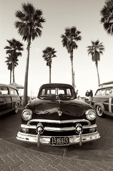 Old Ford and Palm Trees