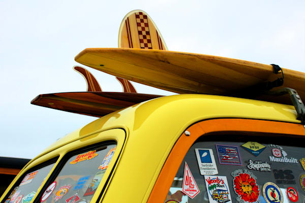 Surfboards on a Woody