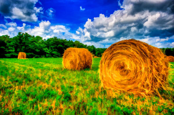 Hay Bales and Clouds Fine Art Photograph | JustBob Images