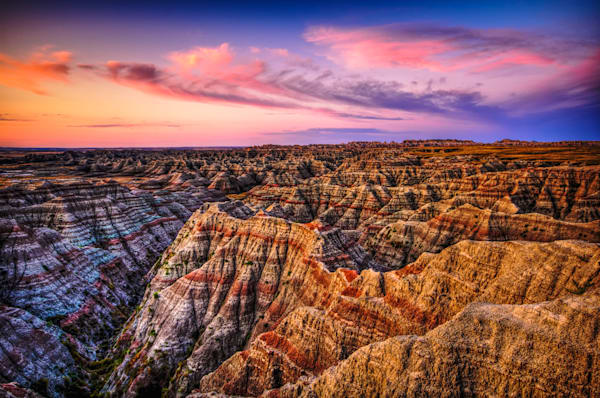 Badlands Morning Sky Fine Art Photograph | JustBob Images
