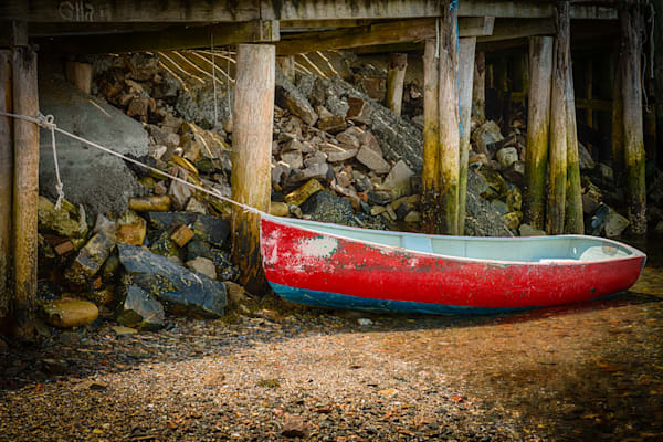 Small Boat in Bass Harbor Fine Art Photograph | JustBob Images