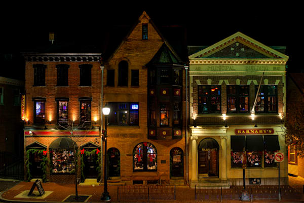 Barnaby's at Night Fine Art Photograph   JustBob Images