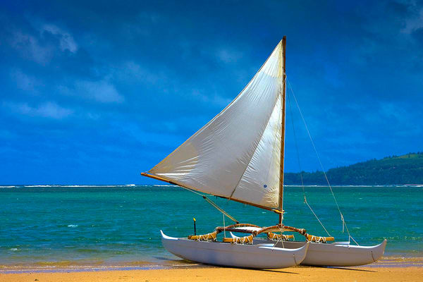 Hawaiian Double Hulled Canoe | Kauai Fine Art Photography, Hawaii