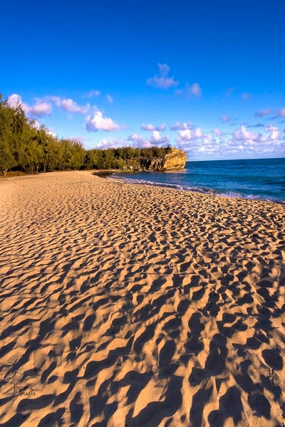 Footprints at Shipwrecks Beach   Kauai Fine Art Photography, Hawaii