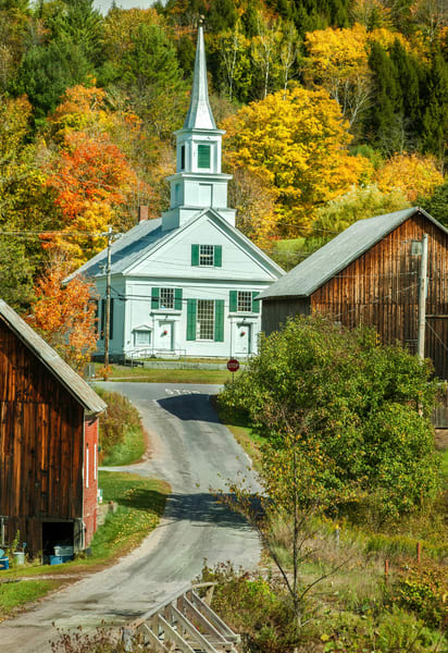 Classic New England Village scenery as fine art prints/Beautiful Waits River Vermont photography by Thomas Schoeller