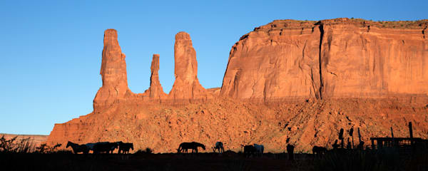 4324 Monument Valley Horses  Art | Cunningham Gallery