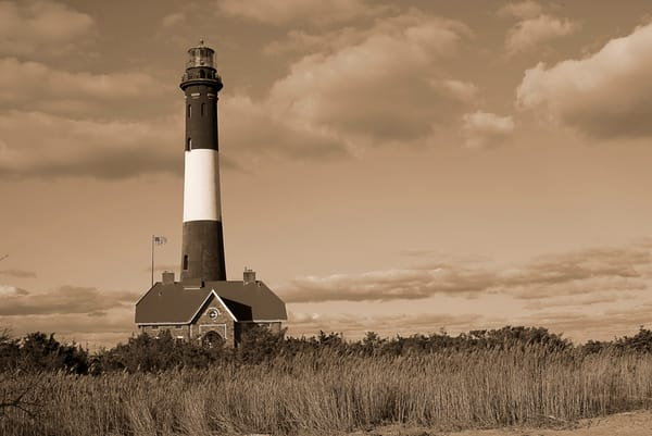 Fire Island Lighthouse Sepia