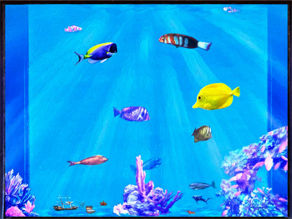 Aquarium Art on Canvas - The Gallery Wrap Store