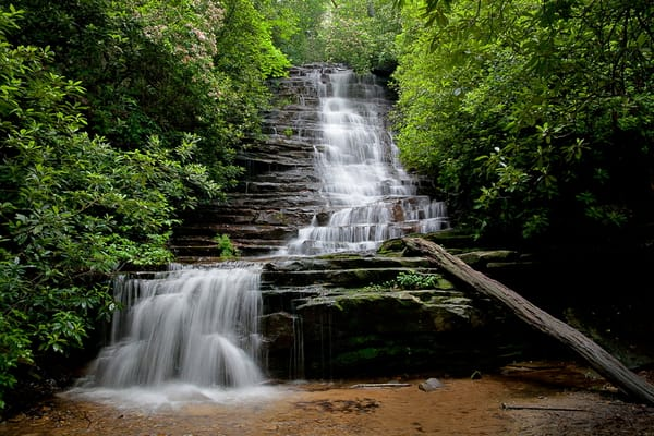 5039 Waterfall Smoky Mtns Photography Art | Cunningham Gallery