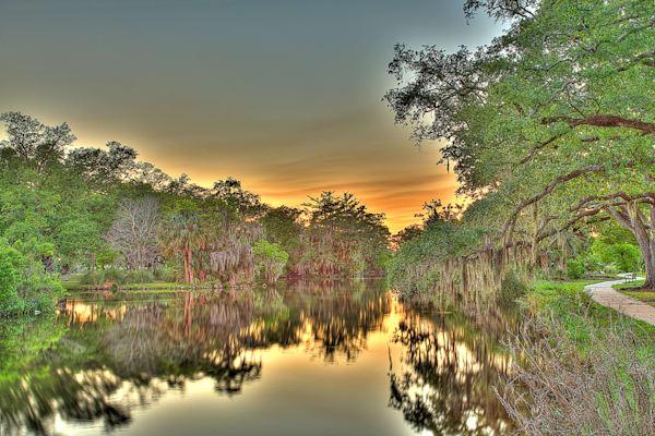 Bayou Sunset Photography Art | Zakem Art LLC