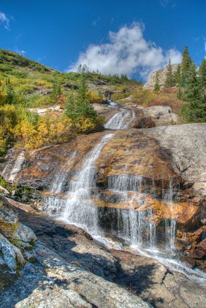 5173 Blue Lakes Waterfall Art | Cunningham Gallery