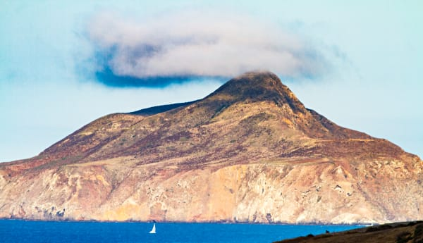 Cloud Over Anacapa Island Peak Photograph for Sale as Fine Art