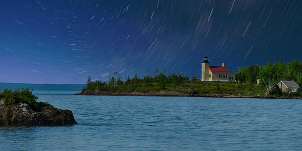 Copper Harbor Star Trails