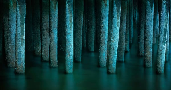 Nautical inspired abstract fine art prints! The Ghostly Piers of the Province Lands Cape Cod Massachusetts