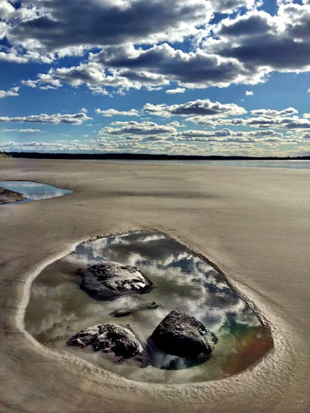 coffin's wingaersheek beach clouds reflection