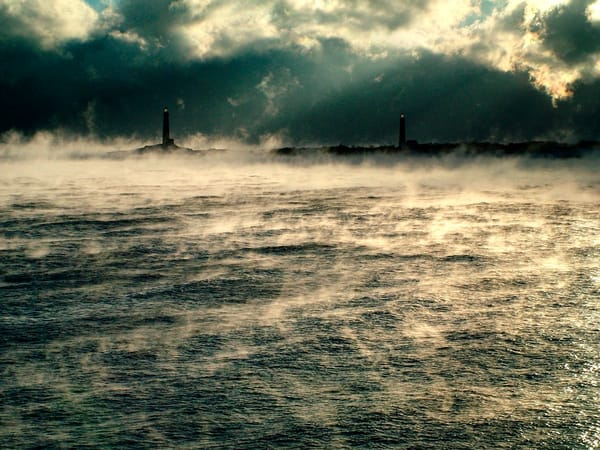 twinlights lighthouse thacher island seasmoke