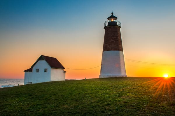 Point Judith Lighthouse at Sunset