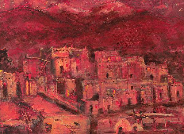 Pueblo At Sunset Art | Fine Art New Mexico