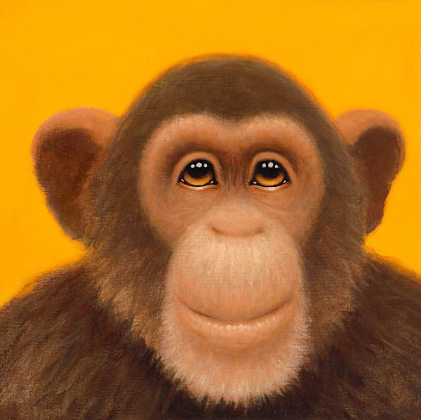 Tiny Chimp Yellow Art | Fine Art New Mexico
